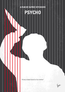 No185 My Psycho minimal movie poster von chungkong