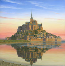 Mont Saint-Michel Morn by Richard Harpum