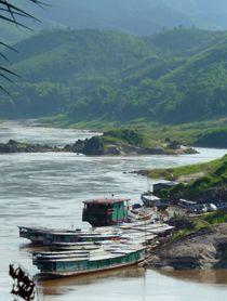 Schiffsanlege auf dem Mekong by reisemonster