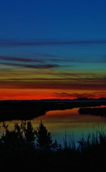 Deep Marshland Sunset von Billy Bartholomew