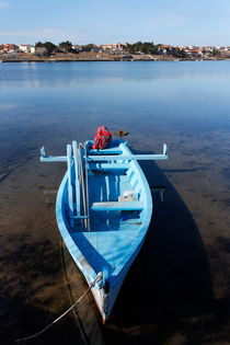 A blue fishing boat. by Gordan Bakovic