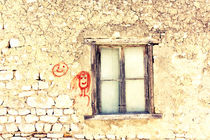 An old window and two faces.  by Gordan Bakovic