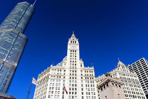 Wrigley Building and Trump Tower Photograph von Milena Ilieva