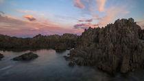 sunset rocks by Mike Kaplan