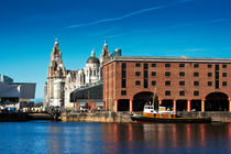 Albert Dock and Liver Buildings Liverpool UK by illu