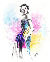 color print-fashion illustration von Tania Santos