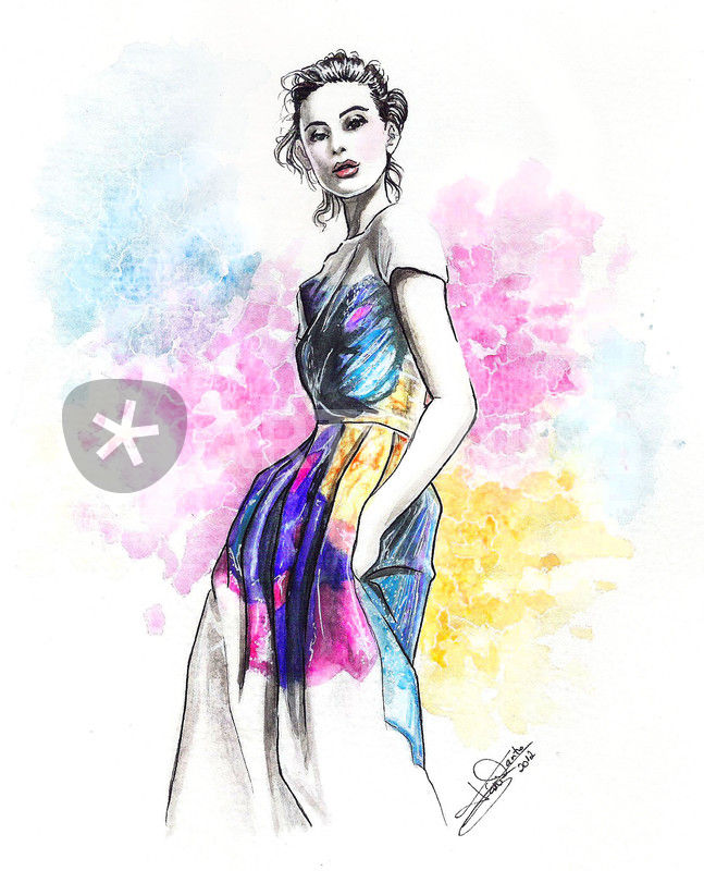 u0026quot color print-fashion illustration u0026quot  drawing art prints and posters by tania santos