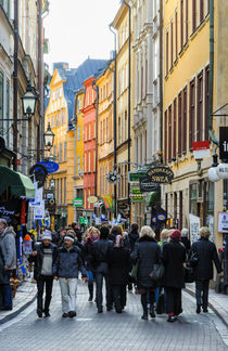 Street in Gamla Stan, the old part of Stockholm, Sweden von David Hill