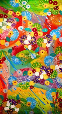 Floral Colorful Modern Abstract von Julia Fine Art