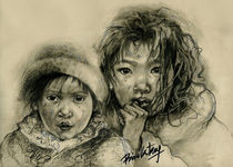 Protect Our Children Series - Asia Street Urchins by Priscilla Tang