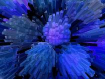 Columns in blue von Robert Gipson