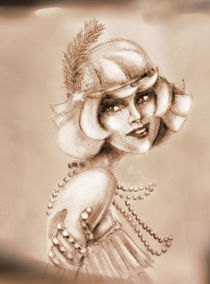 Roaring 20s girl sepia by Jera RS