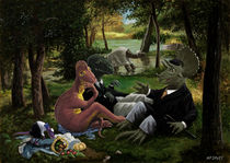 The Luncheon on the Grass with dinosaurs von Martin  Davey