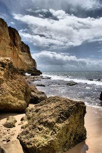 Portugal Beach Rock by brian raggatt
