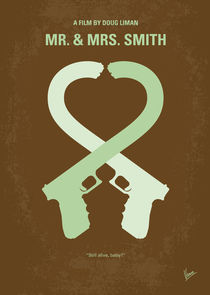 No187 My Mr. and Mrs. Smith minimal movie poster von chungkong