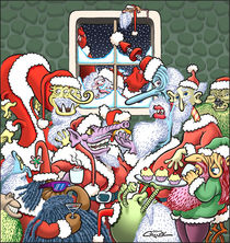 Monster Santas by Howard Cruse