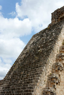 STAIRWAY TO HEAVEN Uxmal Mexico by John Mitchell