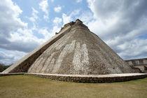 PYRAMID OF THE MAGICIAN Uxmal Mexico by John Mitchell