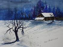 Winter bei Freising von Inez Eckenbach-Henning