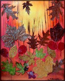Abstraktes Herbst by Eva Borowski