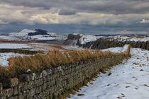 Roman Wall in Winter by David Pringle