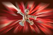 Fallende-voodoopuppe