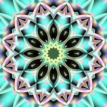Mandala grün von Christine Bässler