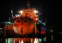Schiff im Hafen  by Olaf von Lieres