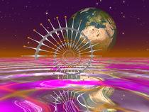 Aufgehende Erde, Rising Earth von Frank Siegling