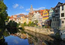 Neckarfront Tübingen mit schönen alten Häusern von Matthias Hauser