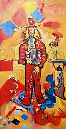 happy  accordeonist by milan nikolcin