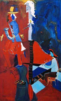 woman   with harp by milan nikolcin