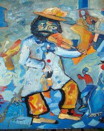 violinist  in the  blue by milan nikolcin