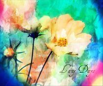 Painterly Floral by rosanna zavanaiu