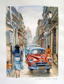 Gasse in La Habana, Cuba von Ronald Kötteritzsch