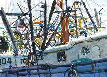 Along the Dock, Provincetown von Robert Halliday