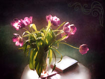Tulpenstrauss in Lila 2 von Silvia Streit