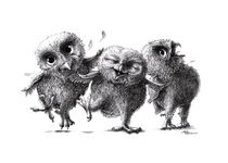 Crazy - Happy - Owls by Stefan Kahlhammer