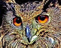 Metallic Owl von Roger Butler