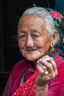 Die Raucherin - The Smoker von Hans Sterr
