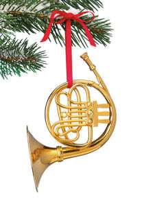French Horn Ornament by Daniel Troy