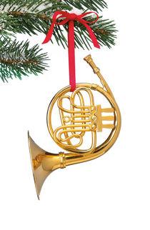 French Horn Ornament by Daniel Troy