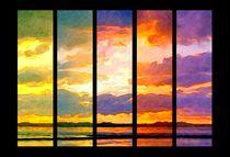 Poesie des Lichts - Lichtstimmung über dem Watt  by Eckhard Röder