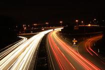 Langzeitbelichtung Autobahn by fabinator