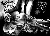 Blues band poster by Lucas Alcantara