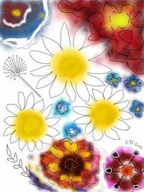 Himmlische Blütenpracht by Heide Pfannenschwarz