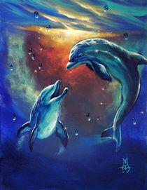 Happy Dolphins by Marco Antonio Aguilar