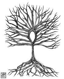 Ahkh Tree of Life von Sandra Gale