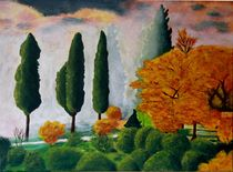Herbst in der Toskana by Petra Koob