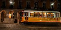 Night tram by Amilcar Pereira